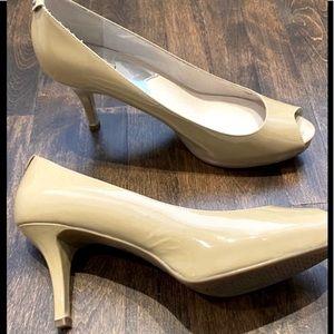 MICHAEL KORS   Patent Leather Peep Toe Heels